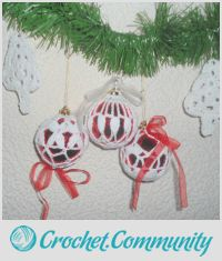 Crocheted Christmas decorations, Сhristmas Balls tree, Balls tree ornaments, New Year Decoration