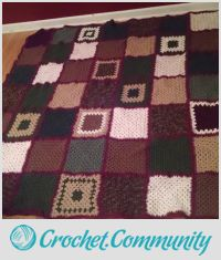 patchwork charity afghan