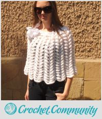 Knitted Capelet, Poncho Bride,  Snow White Women, Spring Summer, Satin Ribbon Flower