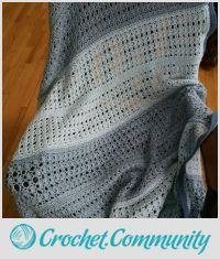 shell stitch striped afghan