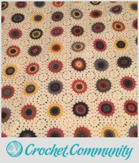 Sunflower Inspired Granny Square Afghan