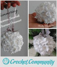 Japanese Snowball Viburnum Flower Ornament