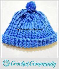 Ribbed Crochet Cap