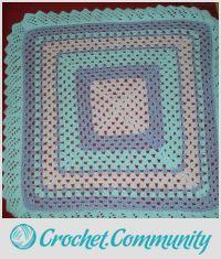 frill trim crochet blanket