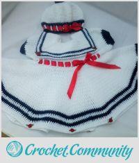 Sailor dress and matching beret