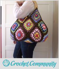 Perfect Crochet Bag for Fall - Martha Bag - Grannys and Colors!