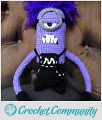 Purple minion from Despicable Me 2