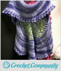 shawl jacket crocheted