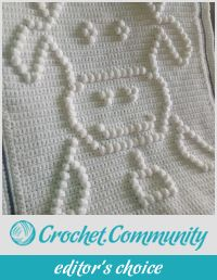 Crochet blanket baby cow
