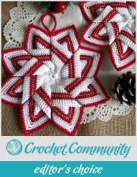 Star Pot Holder Crochet Pattern