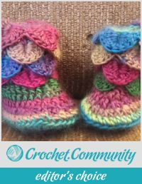 Crocodile stitch booties