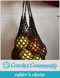 Foldaway crocheted bag +°+ Sac en crochet pliable