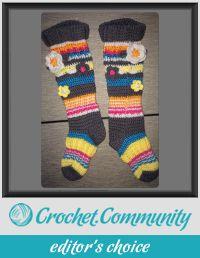 Funky Flower Knee High Socks