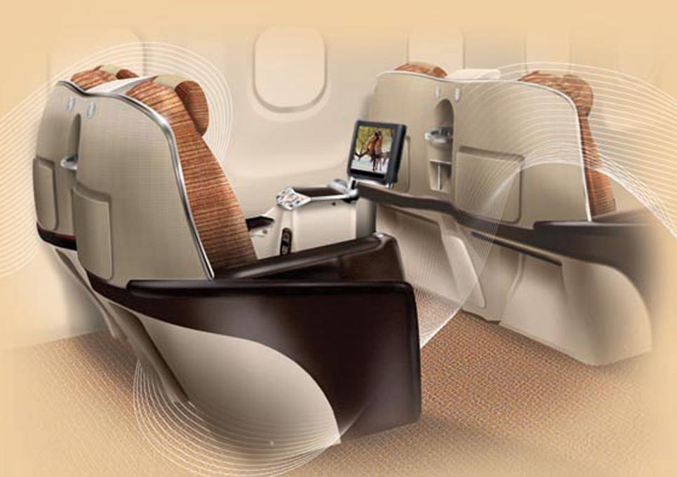 Aircraft Composite Seat Concept Illustration
