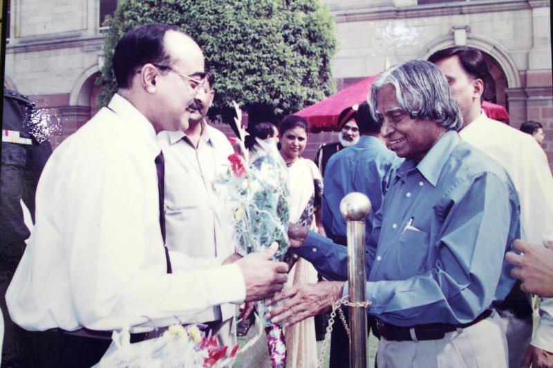 Dr. Animesh Arya with Dr. A.P.J. Abdul Kalam