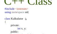 Tutorial - Contoh Class Sederhana Di C++