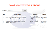 Source Code - Contoh Sederhana Search Database PDO Dan Mysql