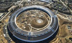 Kantor pusat Apple Inc (Apple Campus) terbaru di C...