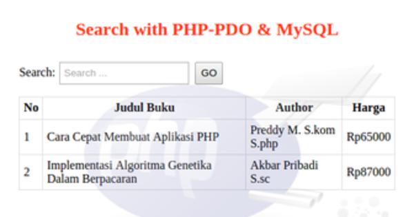 cara membuat script pencarian sederhana dengan php mysql ...