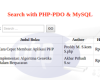 Source Code - Contoh Sederhana Search Database PDO...