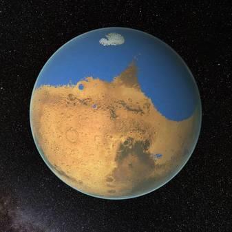 Permukaan Mars terdapat air