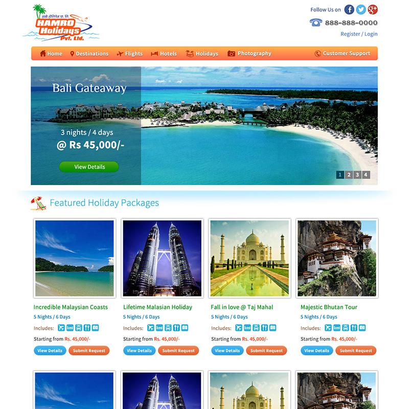Hamro Holidays Homepage