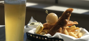 $20 Fish & Chips & a local beer at Indiana Cottesloe Beach