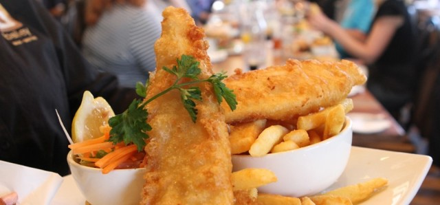 $18 Grilled or Fried Barramundi & Chips at The Bailey Bar and Bistro