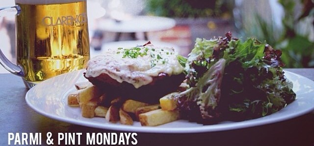 $20 Parmi & Pint at Clarences