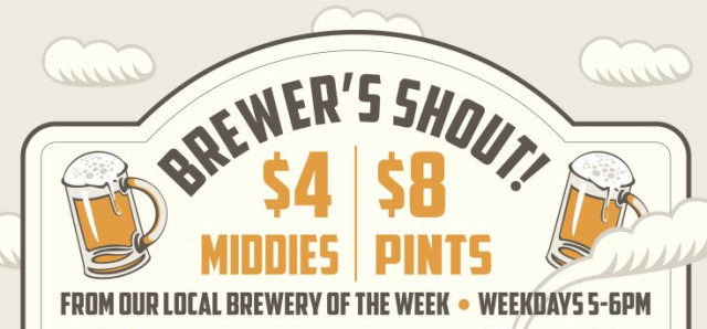 $4 - $8 The Brewers Shout at Clancy's Fish Pub Fremantle