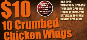 $10 Crumbed Chicken Wings at Universal Bar