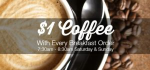 $1 Coffees at Cove Bar & Dining