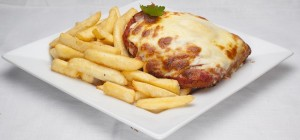 $12 Chicken Parmi at Rosemount Hotel