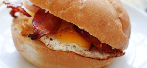 $3 Takeaway Bacon & Egg Roll at Cafe 63