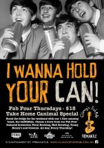 $15 The CANimal Fab Four at Clancy's Fish Pub Fremantle