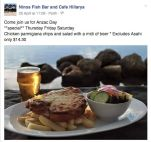 $14.30 Chicken Parmi Special at Nino's Fish Bar & Cafe Hillarys