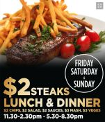 $2 Steaks! at The Railway Hotel