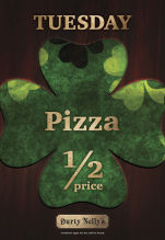 50% Pizzas at Durty Nelly's Irish Pub