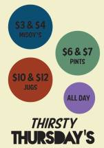 Thirsty Thursdays at Franklins Tavern