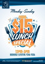 $15 Lunch Specials at Greenwood Hotel
