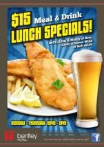 $15 Lunch Specials at The Bentley Hotel