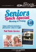 $18 Seniors Lunch Special at The Brook Bar & Bistro