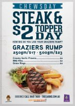 $17 Chewsday Rump Steak at The Carine