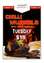 $15 Chilli Mussels Tuesday at The Kewdale Tavern