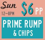 $6  Prime Rump & Chips at The Pineapple Hotel