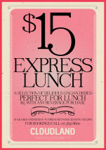 $15 Italian Express Lunches at Cloudland