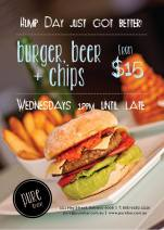 $15 Burger & Beer  at Pure Bar