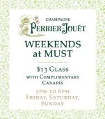 $13 Glass of Perrier-Jouët at Must Winebar