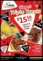 $15.50 Triple Treats at Logan Diggers