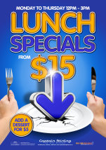 $15 Lunch  at Captain Stirling Hotel
